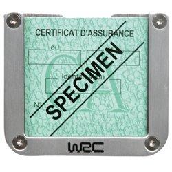 WRC 7378 Porta tagliando assicurazione alluminio