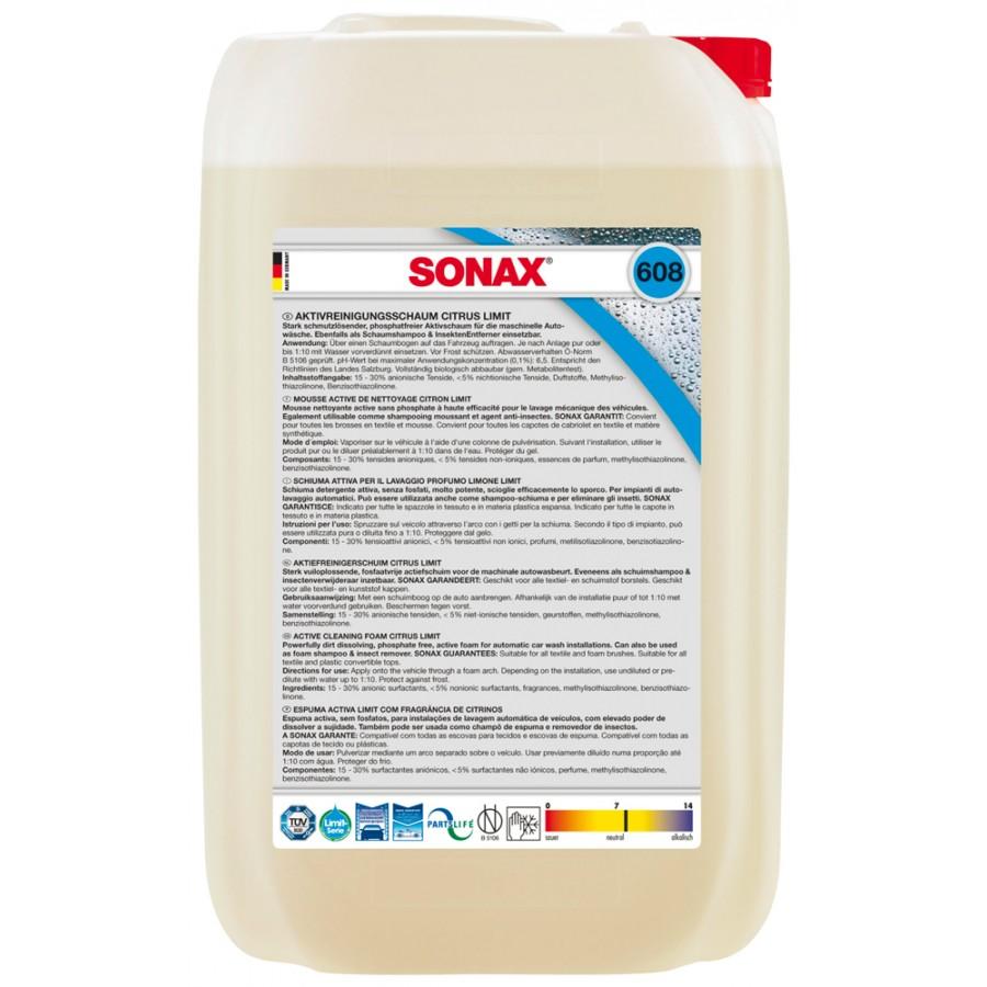 Sonax 608705 Schiuma attiva lavaggio profumo limone 25L
