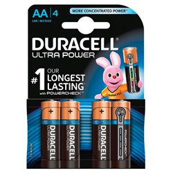 DURACELL 94002579 Conf. 4 pile stilo Ultra Power AA 1500