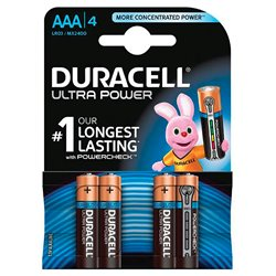 DURACELL 94002708 Conf. 4 pile ministilo Ultra Power AAA 2400