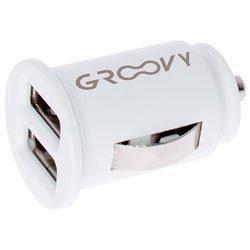 GRAB&GO GR011 Conf. 5 pz Carica batterie da auto con 2 porte USB 2.4A bianco