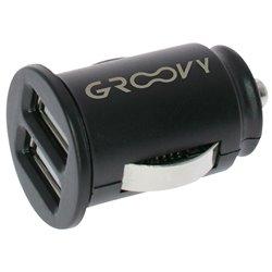 GRAB&GO GR012 Conf. 5 pz Carica batterie da auto con 2 porte USB 2.4A nero