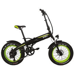 VIVO M-VF21G Fat E-Bike pieghevole VF21 verde