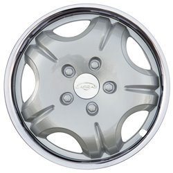 """Carras NG2115 Set 4 copricerchi 15"""" Inoxplast NG21 silver"""
