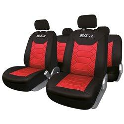 Sparco SPC1016RS Serie completa fodere nero/rosso