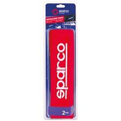 Sparco SPC1205RD Cuscini passacintura rossi con patch