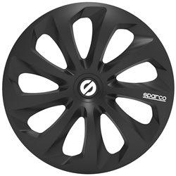 "Sparco SPC1370BK Set 4 copricerchi Sicilia nero 13"""