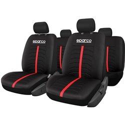 Sparco SPC3502RD Serie completa fodere nere con riga rossa