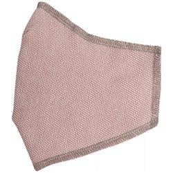 Cora M3PZ-05 Mascherina adulto tinta unita rosa bordo grigio