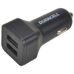 Duracell DR5035A Caricatore da auto doppio USB 2.4A + 1A nero