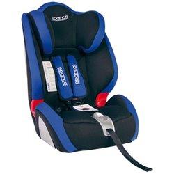 Sparco F1000KBL Seggiolino di sicurezza per bambini 9-36 kg nero/blu